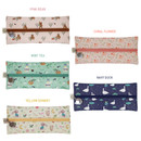 Colors of Willow illustration pattern zipper pencil case