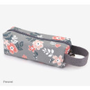 Present - Pattern canvas pencil case with strap