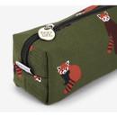 Lesser panda - Pattern canvas pencil case with strap