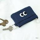 Som Som stitching card case with key ring