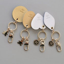 Humming leather key chain key ring