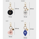 Size of Humming leather key chain key ring