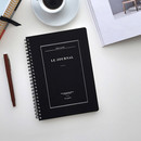 Black - Le journal undated weekly planner