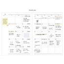 Monthly plan - Le journal undated weekly planner