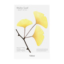 Yellow - Ginkgo leaf transparent sticky memo notes Large