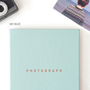Sky blue - photograph self adhesive photo album
