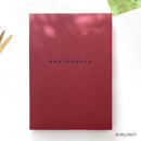Burgundy - photograph self adhesive photo album