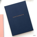 Navy - photograph self adhesive photo album