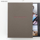 Warm gray - photograph self adhesive photo album