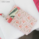 Coral flower - Willow story pattern flat card holder case ver4