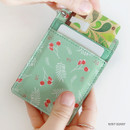 Mint tea - Willow story pattern flat card holder case ver4