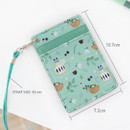 Size of Willow story pattern flat card holder case ver4