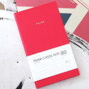 Pink - Prism classic 80 pages lined grid notebook
