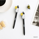 Black - Moomin color gel pen 0.4mm