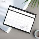 White - Simple sticky monthly planner