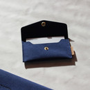 Navy - Wanna be chamude flat pocket card case