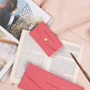 Coral pink - Wanna be chamude flat pocket card case