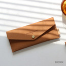 Brown - Wanna be chamude envelope pouch