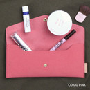 Coral pink - Wanna be chamude envelope pouch