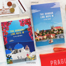 Santorini / Prague - Bon Bon lined notebook