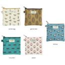 Jam Jam cute illustration pattern small zipper pouch