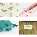 Detail of Jam Jam cute illustration pattern small zipper pouch