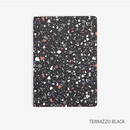 Terrazzo black - Draw your life take notes plain notebook