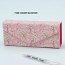 Pink cherry blossom - Pattern square pencil case box ver2