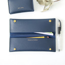 Navy - Multi purpose twin pocket pencil case