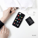 Black - Ghostpop polycarbonate phone case for iPhone 7