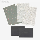 Camping map - Present your heart daily letter paper and envelope set
