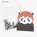 Lesser panda - Present your heart animal letter paper and envelope set