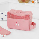 Indian pink - Travel toiletry bag with hand strap