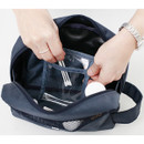 1 clear pocket - Travel toiletry bag with hand strap