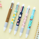 Cute illustration 4 colors in 1 ballpoint pen 0.3 mm