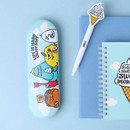 Blue - Sweet monster tin pencil case