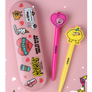 Pink - Sweet monster tin pencil case
