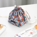 Blooming - Comely pattern cube drawstring pouch