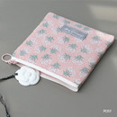 Posy - Comely pattern small flat pouch
