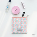 Petal - Comely pattern small flat pouch