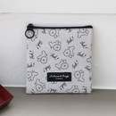 Bichon - Comely pattern small flat pouch