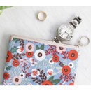 Blooming - Comely pattern small flat pouch
