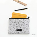 Bichon - Comely pattern medium flat pouch