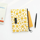 Yellow - Comely pattern medium flat pouch