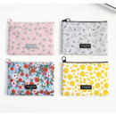 Comely pattern medium flat pouch