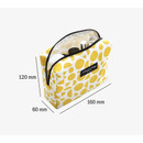 Size of Comely pattern makeup pouch bag