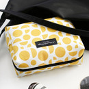 Yellow - Comely pattern makeup pouch bag
