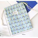 Size of Florence pattern medium drawstring pouch