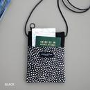 Black - Comely pattern small crossbody bag