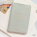 Gray - Twinkle RFID blocking passport cover